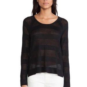 rag & bone Semi-sheer Mesh Raglan Knit Sweater